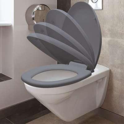 Abattant WC gris avec frein