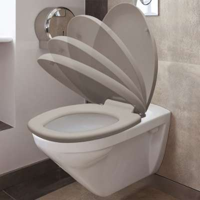 Abattant WC taupe avec frein