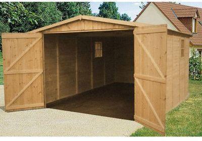 Garage en bois 15 00 m2