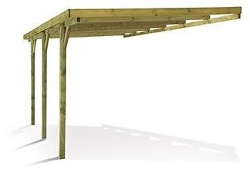 Carport voiture en bois adossable