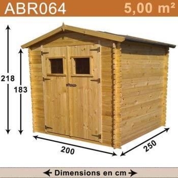 Abri de jardin bois 5 00 m2
