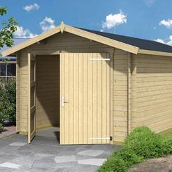 Garage en bois d épicéa Mauritius