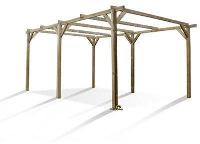 Carport autoportant en bois