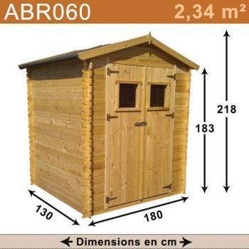 Abri de jardin bois 2 34 m2