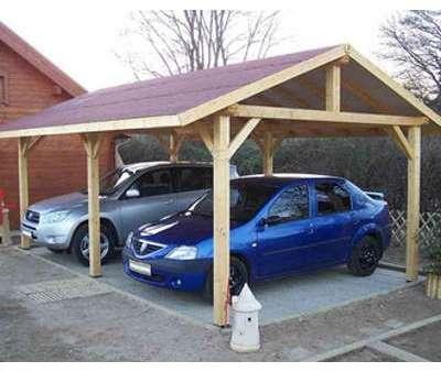 Carport double pente 30 Option