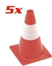 Pack de 5 cônes de signalisation