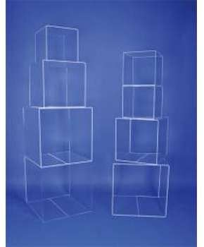Cube 4 faces plexiglas
