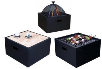 Barbecue Brasero Table carré