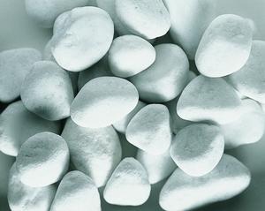 Galets de marbre blanc de