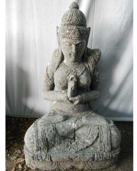 Statue zen déesse Dewi jardin