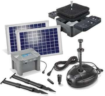 Kit pompe solaire bassin avec