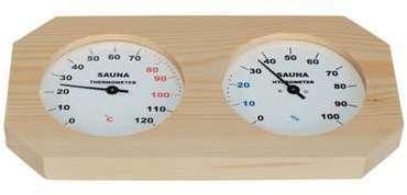 Hygromètre-Thermomètre bois