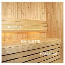 Banquette Sauna Héritage Tremble