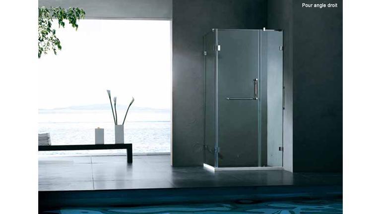 Paroi de douche en verre 100x80
