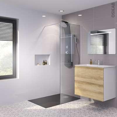 jacuzzi paroi de douche 1 4 de rond altay 90 cm. Black Bedroom Furniture Sets. Home Design Ideas