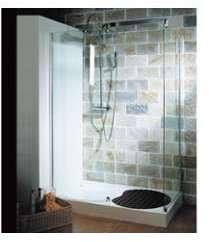 Cabine de douche avec receveur