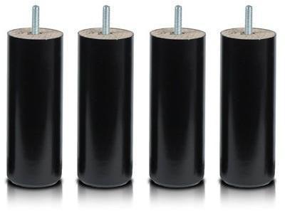 Pieds Cylindre Noir 20 cm
