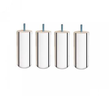 4 Pieds Cylindriques Blanc
