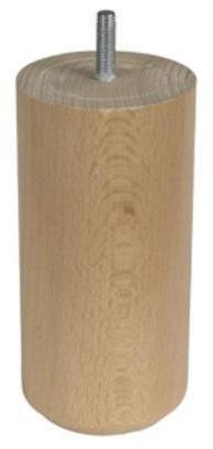 1 pied cylindrique bois 15x7e5cm