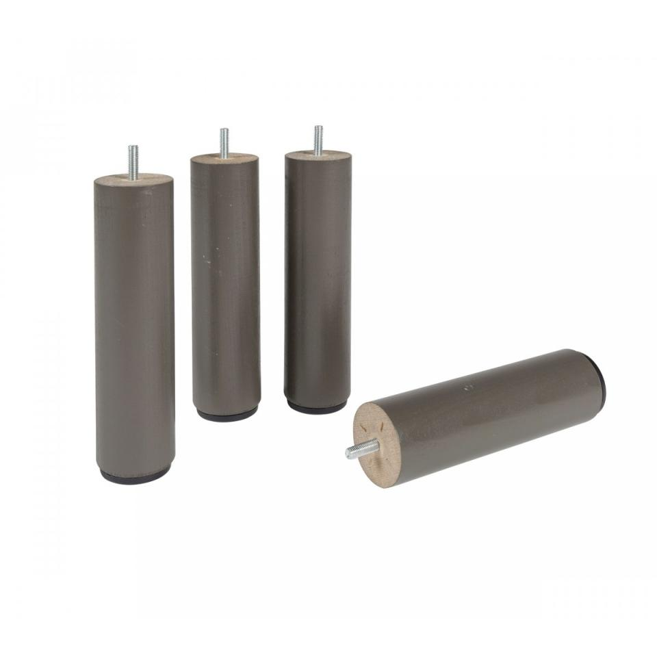4 Pieds Cylindriques Taupe