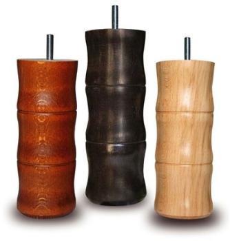 1 pied cylindrique bois 17cm