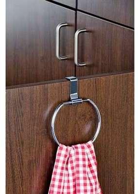 Porte serviette anneau chromé
