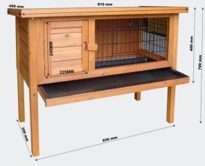 Cage en bois pour rongeurs