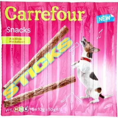 Sticks pour chiens dinde Carrefour