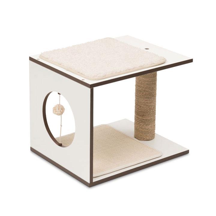 Arbre à chat V-Stool - blanc