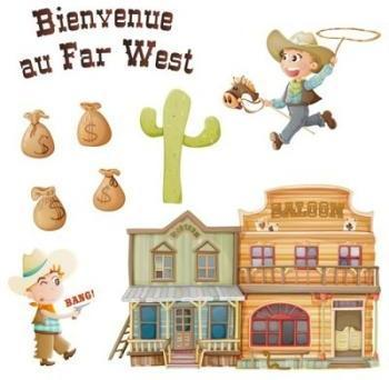Sticker Frise du Far West