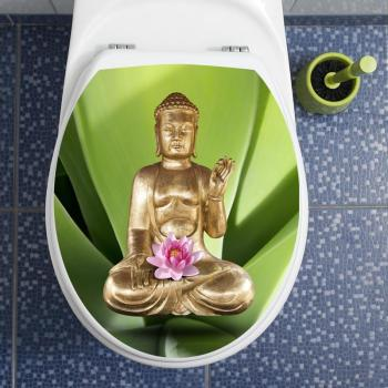 Sticker abattant wc Bouddha