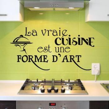 Sticker La vraie cuisine est