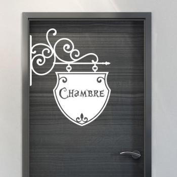 Sticker porte Chambre romantique