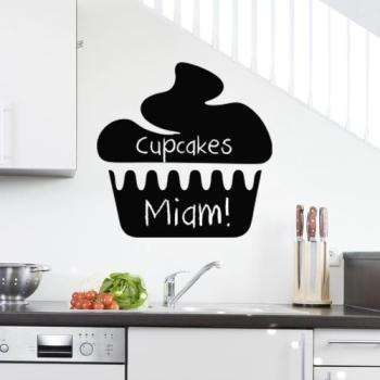 Sticker ardoise Design cupcake