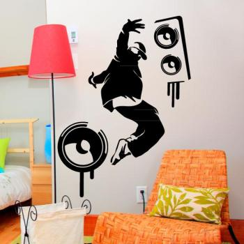Sticker Danseur hip hop et