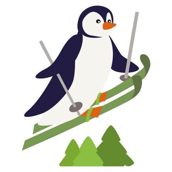 Sticker prise Pingouin au