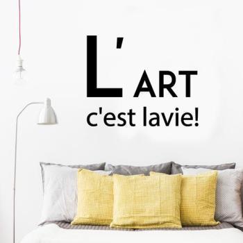 Sticker citation L art c est