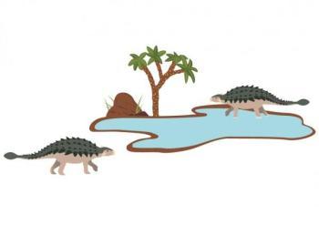 Stickers enfant 2 ankylosaures