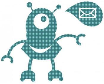 Sticker enfant Robot Mail