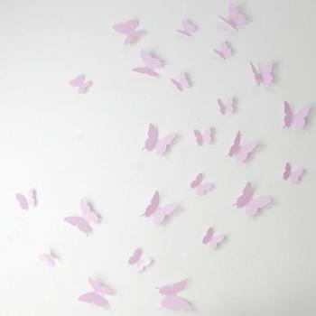 Kit de 36 Stickers papillons