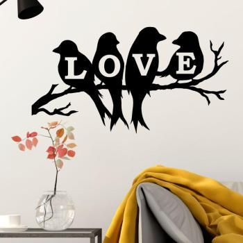 Sticker Love 4 oiseaux sur