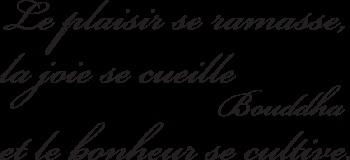 Sticker citation de Bouddha