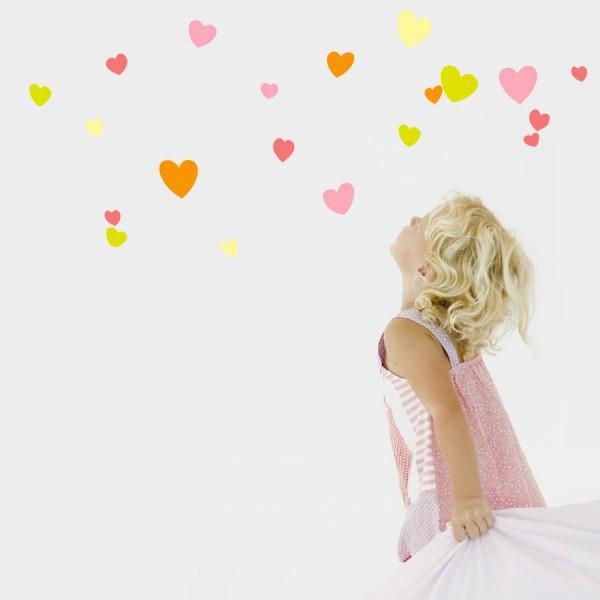 Stickers frise Coeurs Princesse