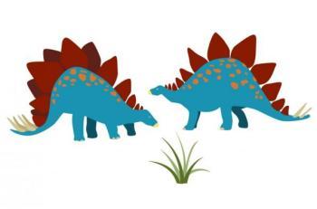 Stickers enfant 2 stégosaures