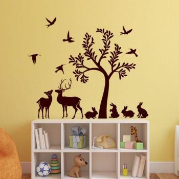 Sticker L arbre et ses animaux