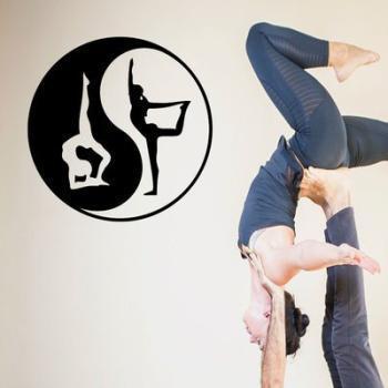 Sticker Yoga Yin-yang acrobatique