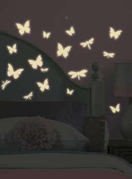 Stickers phosphorescents papillons