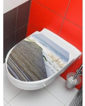 Sticker wc plage Gris PLANETE