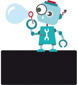 Enseigne de porte enfant Robot