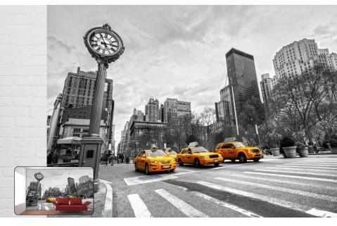 Papier peint design Taxi jaune